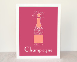 Champagne French Kitchen Art by Géraldine Adams