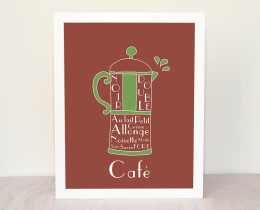 French Coffee illustration Art Print by Géraldine Adams