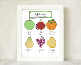 Home decor The French fall fruits front by Géraldine Adams