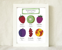 The French spring fruits Kitchen Art Home Décor 8x10 by Géraldine Adams
