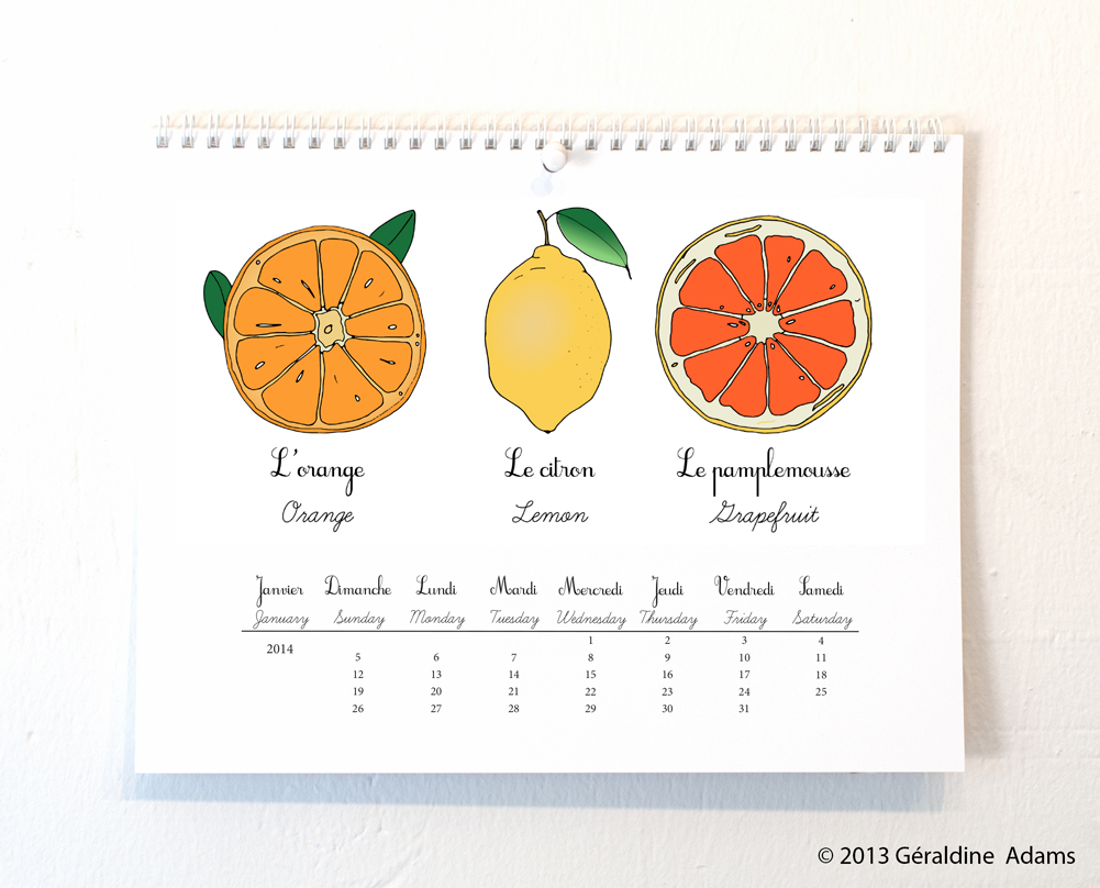 2014 French Garden Calendar by Géraldine Adams